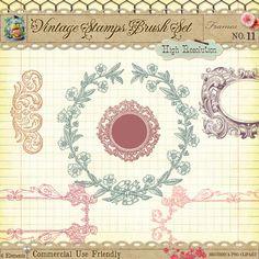 digital stamps, digital collage sheet, victorian clip art, digital scrapbooking, cu4cu, cu, commercial use, photo borders,