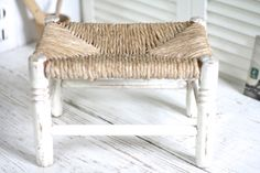 French vintage footstool. Folding seat. French par Passesimple