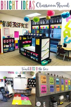 Bright Ideas Makerspace and One Stop Maker Shop designed by Brooke Brown of Teach Outside the Box | Classroom Organization | Classroom Decor | Kindergarten, First Grade, Second Grade | Gifted and Talented | Elementary STEM
