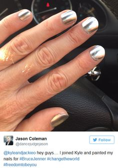 Men Paint Their Finger/Toe Nails In Support Of Bruce Jenner Men Wearing Makeup, Men Makeup, Men Nail Polish, Mens Nails, Polished Man, Painted Toes, Bruce Jenner, Cool Nail Designs, Perfect Nails