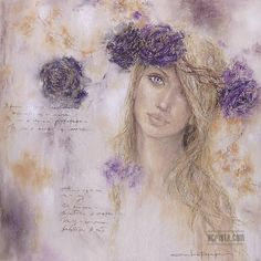 """Tenderness"", soft pastel, sold http://www.acrista.com/en/portfolio/ #art #femaleimage #pastel"