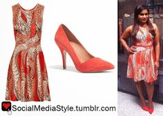 Celebrity Bargain Buys - #mindykaling in #Issa Printed Stretch-Jacquard Dress $250 #celebs