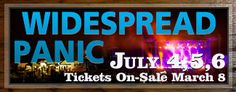 Widespread Panic at Grand Targhee July 4-6, Alta, Wy.  Happy 4th of July!