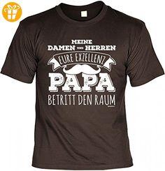 T-Shirt Vater - Eure Exzellenz Papa betritt den Raum - Geschenk Idee mit Humor zum Vatertag oder Geburtstag - braun, Größe:3XL (*Partner-Link)