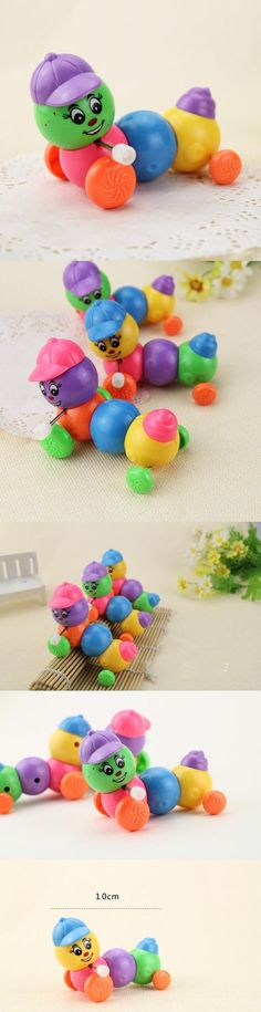 Kids Baby Developmental Educational Toy Lovely Colorful Caterpillar Wind-up Toys Baby Toy Fun Intelligence Plastic random color