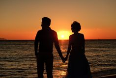 Santorini sunset , pre wedding shoot
