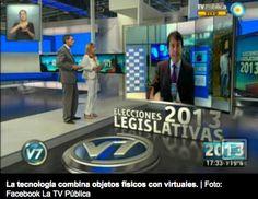 la Tv pública Argentina uso estas últimas elecciones Realidad Aumentada