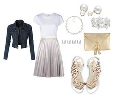 Metallic Silver by iloveyouzhay on Polyvore featuring polyvore, fashion, style, RE/DONE, LE3NO, Antipodium, Sophia Webster, Carolee, M&Co, Allurez, Maison Margiela, clothing, fashionista, fashionblogger and trends