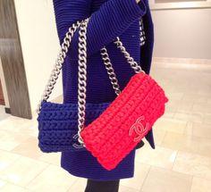 Fancy Crochet medium flap bag