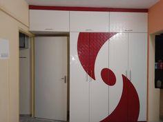 Living Room Partition Design, Room Partition Designs, Tv Wall Design, Door Design, Wardrobe Laminate Design, Wardrobe Design Bedroom, Bedroom Furniture Design, Bed Furniture, Double Bed Designs