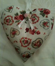 Hearts And Flowers Lavender Bag / Valentine Heart - Handmade in Home, Furniture & DIY, Home Decor, Other Home Decor | eBay