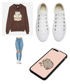 """""""Untitled #527"""" by jamiesowers14 on Polyvore featuring Pusheen and Converse"""