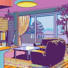 Find images and videos about art, aesthetic and pixel on We Heart It - the app to get lost in what you love. Retro Kunst, Retro Art, Illustrations, Illustration Art, Foto Gif, 8 Bit Art, Vaporwave Art, Aesthetic Anime, Pixel Art