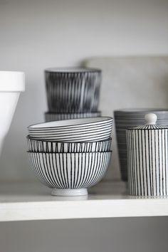 Set de 3 bols noir et blanc - House doctor - Objets déco scandinave