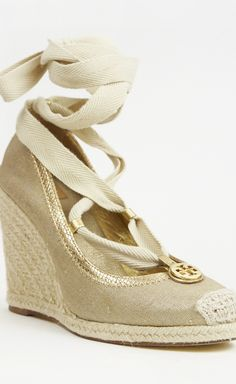 Beige And Gold Wedge