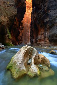 Zion Narrows day hike: no wilderness pass required!