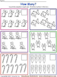 (2014-07) 5-10 Teacher Worksheets, Worksheets For Kids, Preschool Math, Kindergarten Math, Kids Homework, Simple Math, Math Games, Math Centers, Pre School