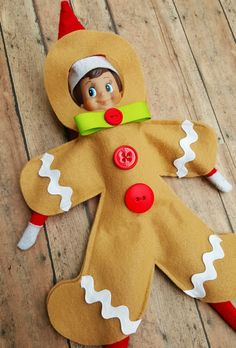This item is unavailable : Elf on the shelf hijinks just got easier with Gingy, our original Elf gingerbread man costume! All Things Christmas, Christmas Holidays, Christmas Crafts, Miniature Christmas, Christmas Sewing, Christmas Activities, Christmas Traditions, Preschool Activities, Gingerbread Man Costumes