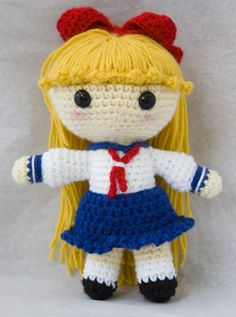 Amigurumi Sailor Moon : Amigurumi Sailor Moon on Pinterest Sailor Moon, Sailor ...