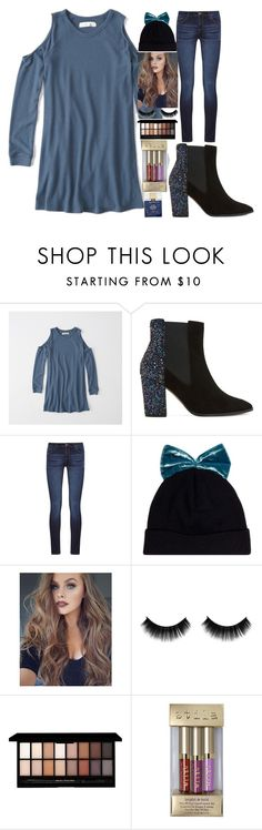 """""""Winter!!!💙"""" by annakate2006 ❤ liked on Polyvore featuring Abercrombie & Fitch, Dune, DL1961 Premium Denim, Federica Moretti, ULTA, Stila and Kate Spade"""