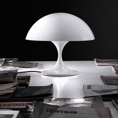 Lampe a poser coupe blanc o40cm martinelli luce normal