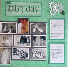 wedding scrapbooking ideas examples images | Here is a large image of Isabella's scrapbook page.