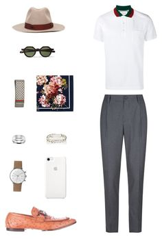 """House of Madalani"" by houseofmadalani on Polyvore featuring Brunello Cucinelli, Gucci, Junghans, Blue Nile, Sidney Garber, Borsalino, men's fashion and menswear"