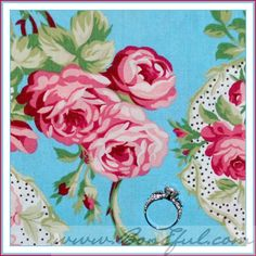 turquoise pink rose paisley