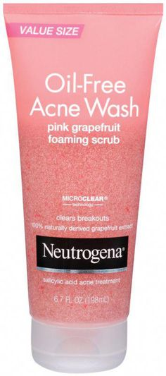 Neutrogena Oil-Free Acne Wash Pink Grapefruit Foaming Scrub powerfully clears blemishes and blackheads with maximum strength Salicylic Acid acne medicine plus an uplifting blast of grapefruit. Cellulite Cream, Reduce Cellulite, Anti Cellulite, Cellulite Exercises, Cellulite Remedies, Salicylic Acid Acne, Acne Causes, Pink Grapefruit, Sweatshirts