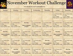 #November #Workout #Challenge not sure what a wacky jack is, but this is doable!