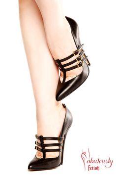 Fabulously Fetish Raven 6 inch heel court shoe by FabulouslyFetish, £180.00