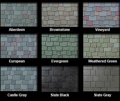 Asphalt roof shingles colors roofing shingles for Names of roofing materials