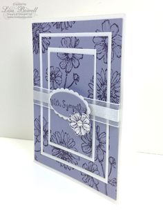 Sympathy Card Featuring Triple Time Card Stamping Technique www.lisastamps.com