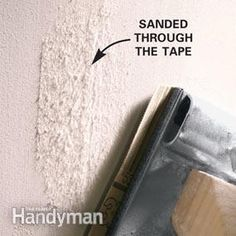 In this article, we'll show you how to avoid common sanding mistakes and offer several tips for getting the best results from your drywall sanding job. How To Patch Drywall, Drywall Repair, Sanding Tips, Hanging Drywall, Drywall Finishing, Bathroom Repair, Drywall Ceiling, Drywall Installation, Home Fix