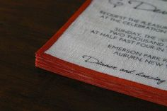 You can totally make your own linen invitations