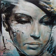 "Today we want to show you beautiful portrait paintings by UK based painter Danny O'Connor (aka DOC). ""Concentrating mainly on figurative and portrait subject matter, his influences include comic books, graffiti, illustration, and character design. L'art Du Portrait, Abstract Portrait, Portrait Paintings, Portraits, Acrylic Paintings, Abstract Paintings, Contemporary Paintings, Art Paintings, Face Art"