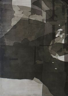 ERIC BLUM Collage idea:  cut up thin dyed silk or paper & collage in overlapping layers.