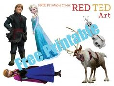 Disney's Frozen Craft - Puppets - Red Ted Art - Make crafting with kids easy & fun Frozen Birthday Party, Frozen Party, Disney Frozen Crafts, Frozen Activities, Frozen Dolls, Frozen Characters, Frozen Theme, Art Blog, Crafts For Kids