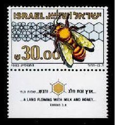 Sellos Postales con Polinizadores - Postage Stamps with Pollinators.