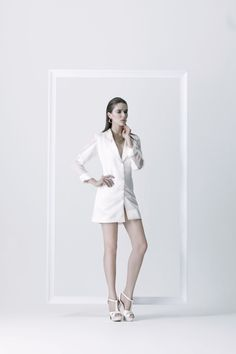 Purity control - More white, more glamour. Combination with shinny and transparent materials. Sweet and chic. Neat in every process of production. #fashion #fashiondesign #fashiondesigner #Thaidesigner #readytowear #aw2014 #MUETTA #Thailand