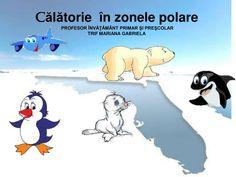 C ă l ă torie în zonele polare PROFESOR ÎNVĂŢĂMÂNT PRIMAR ŞI PREŞCOLAR TRIF MARIANA GABRIELA. Pământul are doi poli:Polul Nord şi Polul Sud. Acestea sunt cele mai friguroase locuri de pe Pământ, atât de friguroase,încât cea mai mare parte a apei a îngheţat şi s-a transformat în gheţari. Polar Bear Video, Ursula, Winnie The Pooh, Disney Characters, Fictional Characters, Family Guy, Mariana, Winnie The Pooh Ears, Fantasy Characters
