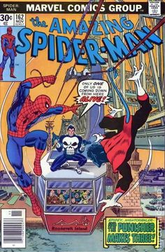 Lot Detail - 1976 The Amazing Spider-Man Marvel Comics (Featuring Gil Kane and Ross Andru Cover/Art; Appearances of Nightcrawler and Punisher) Marvel Comic Books, Comic Books Art, Book Art, Marvel Characters, Univers Marvel, Caricature, Classic Comics, Amazing Spiderman, Vintage Comics