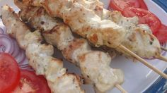 Chicken souvlaki is another word for seasoned Greek kabobs and they make a nice appetizer when dipped into homemade tzatziki sauce.