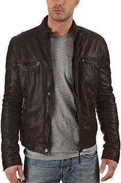 Black, Biker Jacket 1501005 Laverapelle Mens Genuine Lambskin Leather Jacket