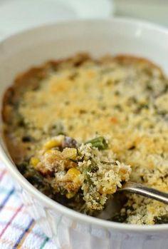 Green Bean & Corn Casserole (Vegetarian Thanksgiving Menu Ideas)