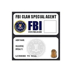 Fox Mulder Fbi Badge Wallet  XFiles    Badge Wallet