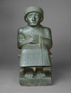 Diorite statue of Gudea. Neo-Sumerian, c. 2090 B.C.