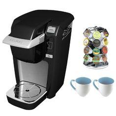 Keurig 20077 K10 Mini Coffee Brewer (Black) + Nifty 28 K-Cup Carousel + Accessory Kit - http://teacoffeestore.com/keurig-20077-k10-mini-coffee-brewer-black-nifty-28-k-cup-carousel-accessory-kit/