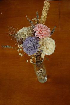 Sola Wood centerpiece   Centerpieces Wedding by TheBloomingCorner,
