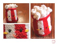 popcorn with free pattern! Amigurumi Food and More